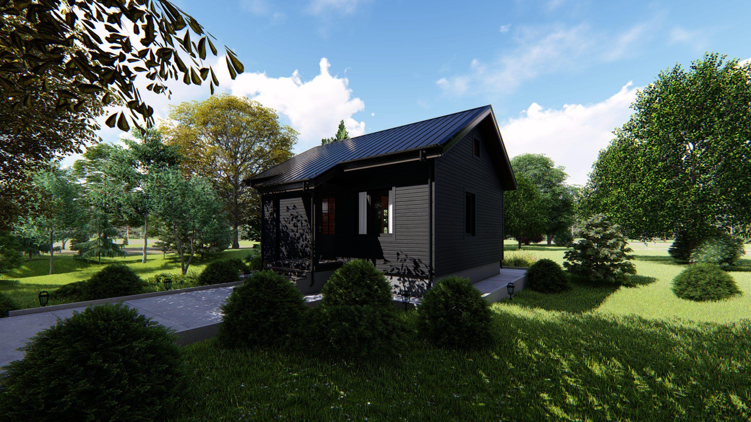 Каркасный одноэтажный дом для гостей