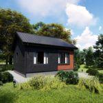Каркасный одноэтажный дом по немецкой технологии с применением сип панелей